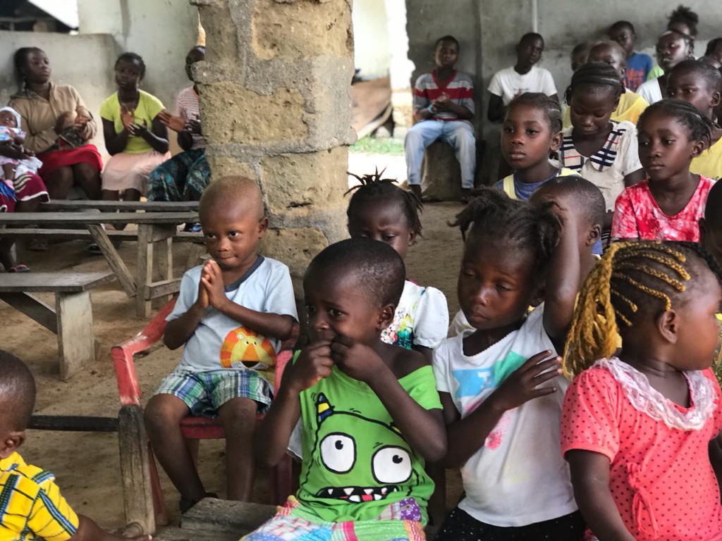 Assembly at Sayklon Orphanage
